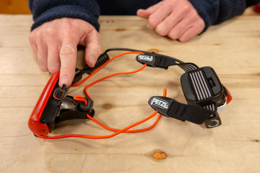 Headlamp with rechargeable battery