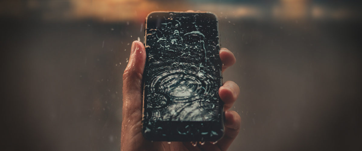 Cellphone in rain