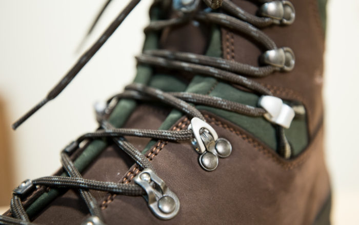 Closeup of bootlaces