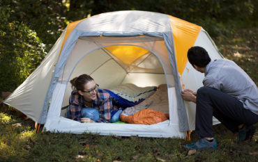 People in a tent