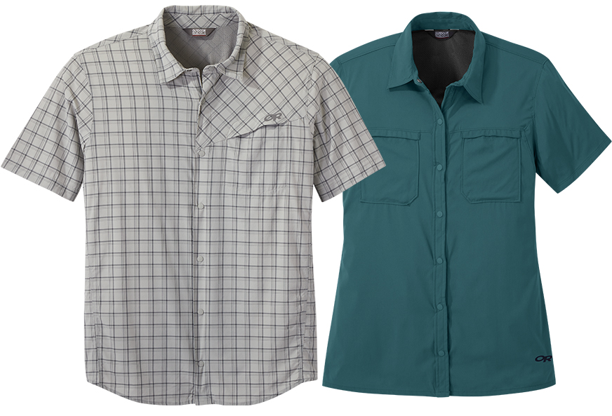 Outdoor Research Women's Optimist S/S Sun Shirt & Men's Astroman S/S Sun Shirt