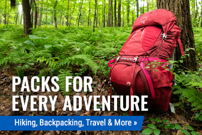 Backpacks, Day Packs Travel Packs & More