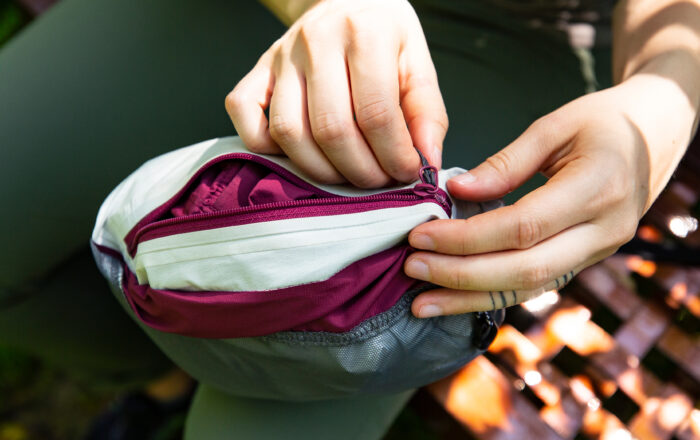 How to stuff a jacket into a self-stowing pocket