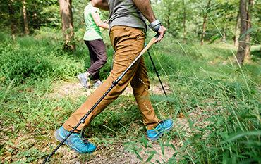 walking with trekking poles